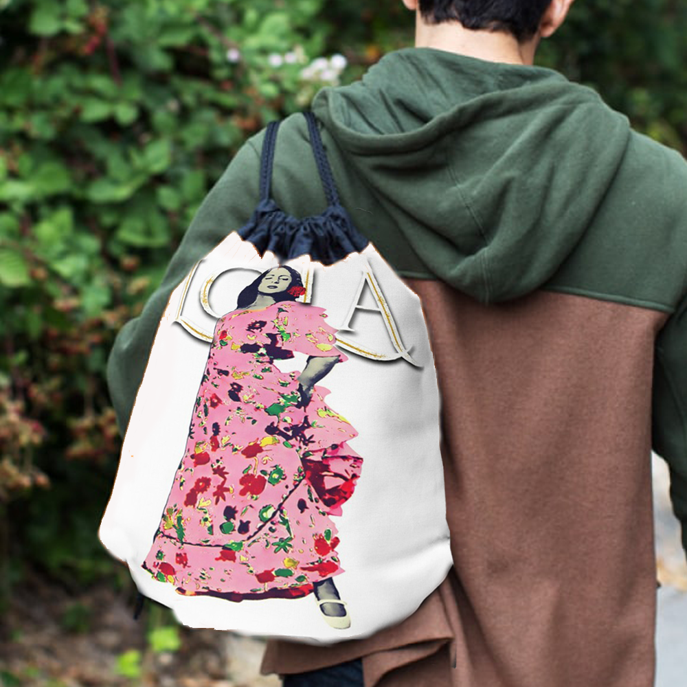 mochilas saco lola flores